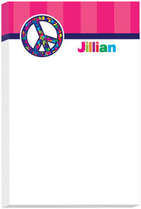 Alphabet Peace Note Pad