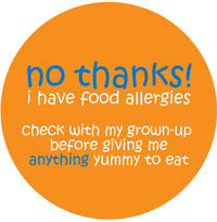 No Thanks Orange Allergy Alert Vinyl Sticker