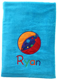 Beach Ball Embroidered and Applique Beach Towel