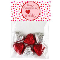 Mini Hearts Valentine Candy Bag Toppers