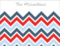 Navy Chevron Foldover Card