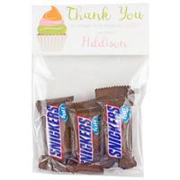 Cupcake Birthday Party Candy Bag Favors