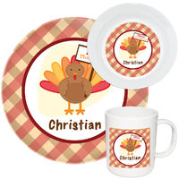 Turkey Day Melamine Set