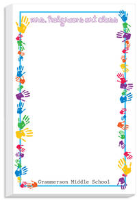 Colorful Hands Notepad