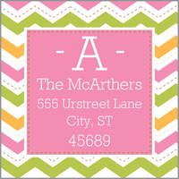 Colorful Chevron Return Address Label