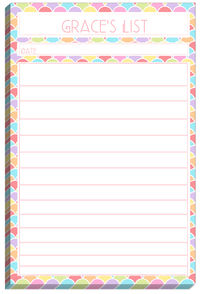 Rainbow List Pad Too