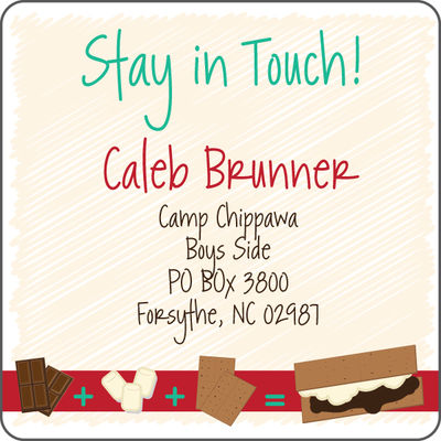 brown smores calling card - Personalized Calling Cards