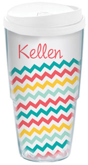 Angled Chevron Acrylic Travel Cup