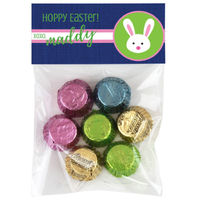 Cute Bunny Easter Candy Bag Toppers