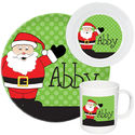 Cheerful Santa Melamine Set