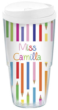 Color Pencils Acrylic Travel Cup