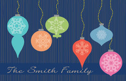 Bright Ornaments Navy Paper Placemats