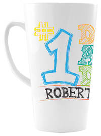 Number 1 Dad Ceramic Coffee Mug