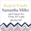 Navy Scribble Chevron Calling Card