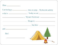 Camp Grounds Camp Fill-in Card