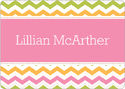 Colorful Chevron Calling Card