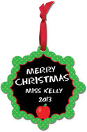 Merry Chalkboard Aluminum Ornament