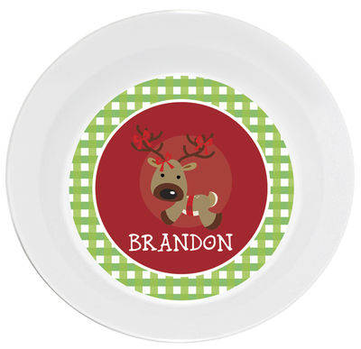Gingham Reindeer Bowl