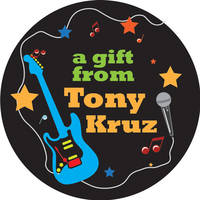 Funky Guitar Gift Stickers