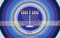 Blue Circle Chanukah Paper Placemats