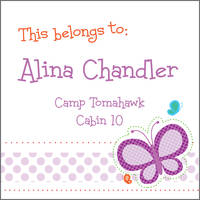 Dotted Butterfly Camp Stickers