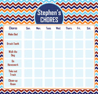 ... Sign Personalized Calendar Pad | Kids Schedule Pad | Homework Chart