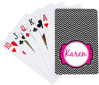 Black Chevron Playing Cards