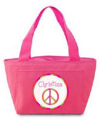 Retro Peace Insulated Lunch Tote