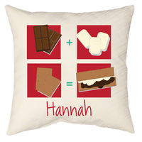 Brown Smores Autograph Camp Pillow