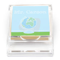 Crayon Globe Sticky Note Holder