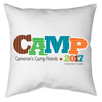 Camp Friends Boy Autograph Pillow