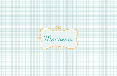 Name Frame Blue Paper Placemats