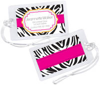 Hot Zebra Luggage Tag