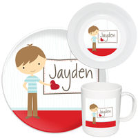 Be Mine Boy Melamine Set