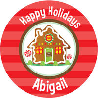 Gingerbread House Gift Stickers