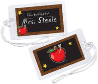 Apple for Teacher Luggage Tag