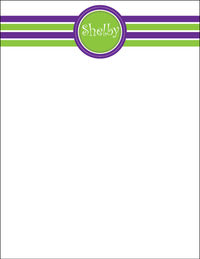 Purple Green Stripes Large Notepad