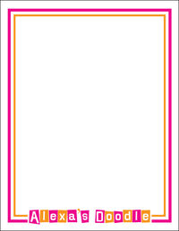 Letter Shapes Fuchsia Doodle Pad