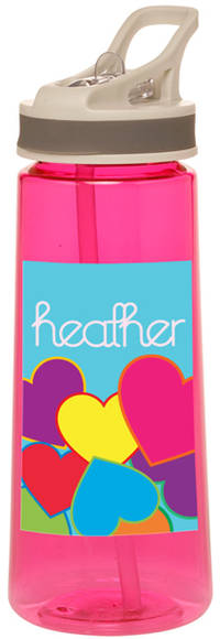 Bright Hearts Water Bottle