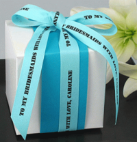 "5/8"" Textured Personalized Ribbons"