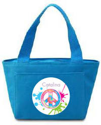 Splattered Peace Insulated Lunch Tote