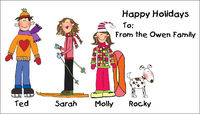 Holiday Custom Gift Labels H-CBAL