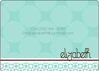 Mint Chocolate Circles Calling Card