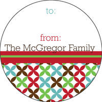Merry Abstract Gift Stickers