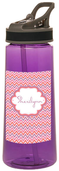 Pink Chevron Water Bottle