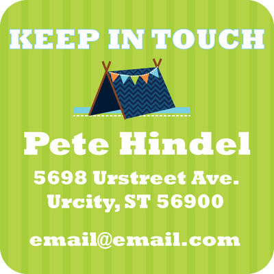 Blue Tent Calling Card