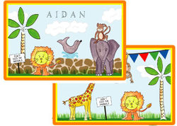 Zoo Friends Placemat P-842
