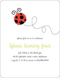 Little Ladybug Invitation