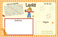 Scarecrow Paper Placemats
