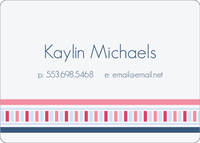 Pink and Blue Calling Card